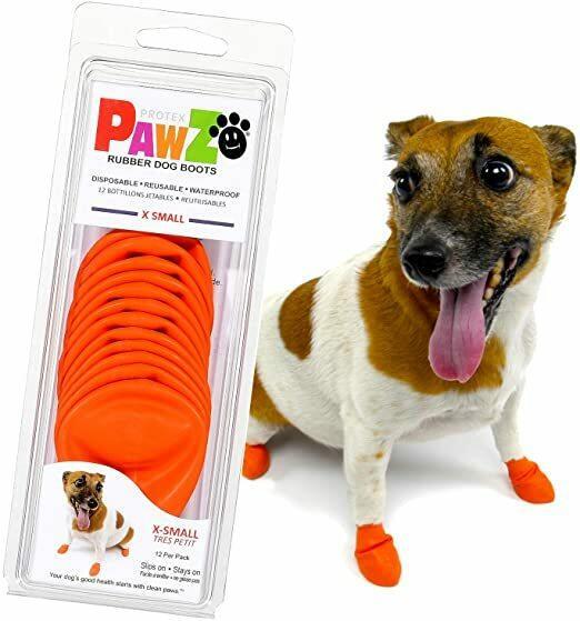 Pawz Arancioni XS Scarpe Per Cani Protezione Polpastrelli Zampe Scarpette