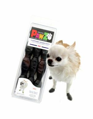 Pawz Nere Tiny XXXS Scarpe Per Cani Protezione Polpastrelli Zampe Scarpette
