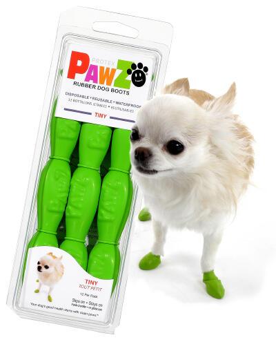 Pawz Verdi Tiny XXXS Scarpe Per Cani Protezione Polpastrelli Zampe Scarpette