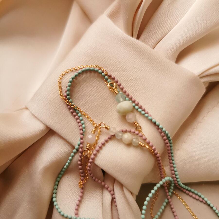 Collana Candy Tricolore con morganite