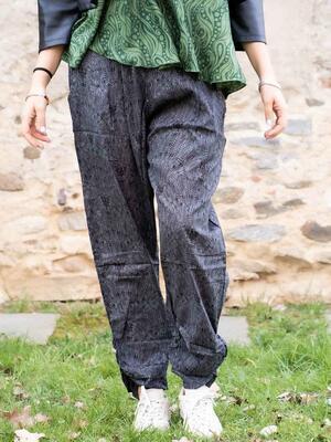 Pantalone donna Kunda a sigaretta retro elasticizzato - grigio scuro