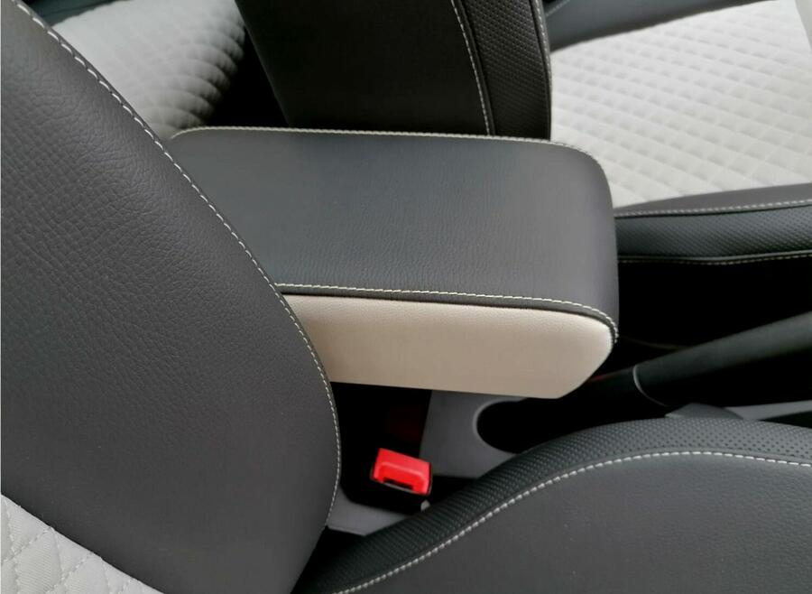 Adjustable armrest mod. PREMIUM with storage XXL for Fiat 500 and 500C and 500S (from 2015>)