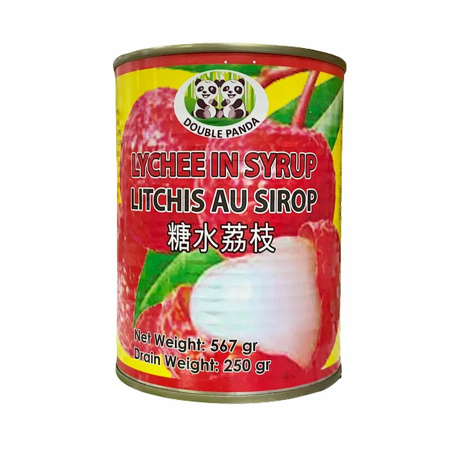 DOUBLE PANDA LYCHEES IN SYRUP 567GR