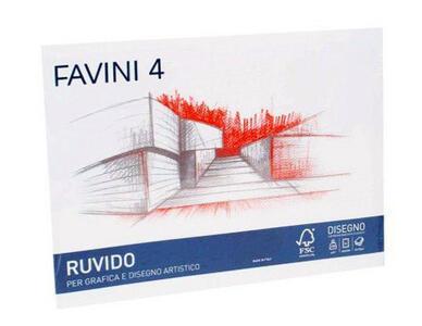 BLOCCO ALBUM DISEGNO RUVIDO FAVINI D4 20 FOGLI 24x33  - 220 gr