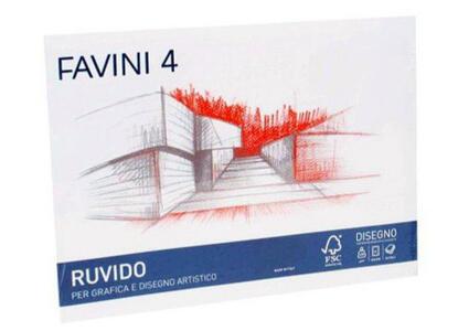 BLOCCO ALBUM DISEGNO RUVIDO FAVINI D3 20 FOGLI 33x48 - 220 gr