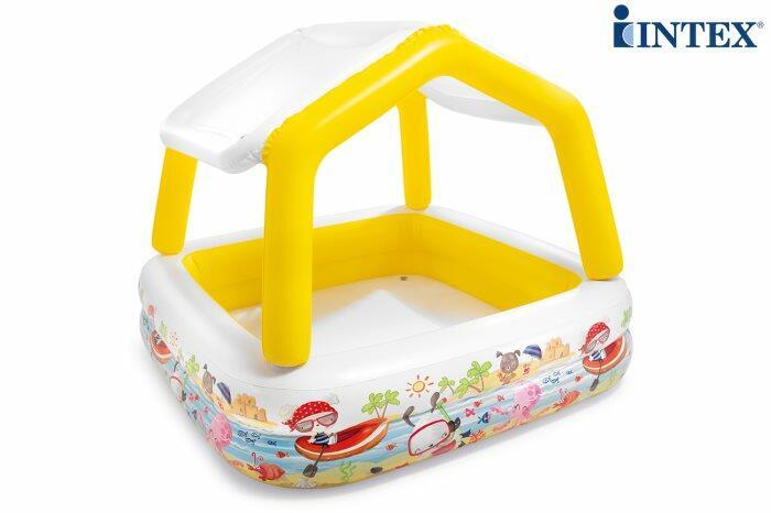 Piscina INTEX ACQUARIO con tetto parasole 157X157X122 CM 57470
