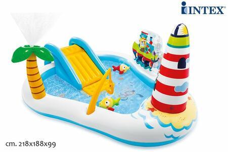 PISCINA PLAY CENTER FISHING Intex 57162 Faro 218x180x99 cm (57162)