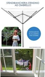 Stendibiancheria gimi garden 50 metri per esterno alluminio ombrello da giardino