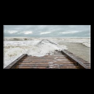 Quadro Pontile di Jesolo inondato