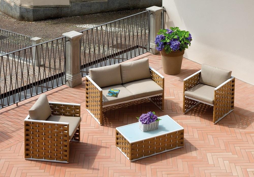Tavolino Giardino Wicker Shanghai : Set salotto bellaria divano poltrone tavolino