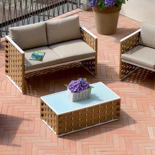 Set salotto bellaria divano 2 poltrone tavolino - Set divano rattan ...