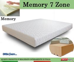 Materasso Memory Mod. 7 Zone da Cm 170x190/195/200 Zone Differenziate Anallergico Sfoderabile - Ergorelax