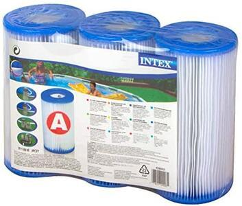 Ricambio set 3 pezzi di Cartuccia Filtro per Pompe Filtro Intex 29003 Clorinatore Combo, Confezione da 3 Cartucce