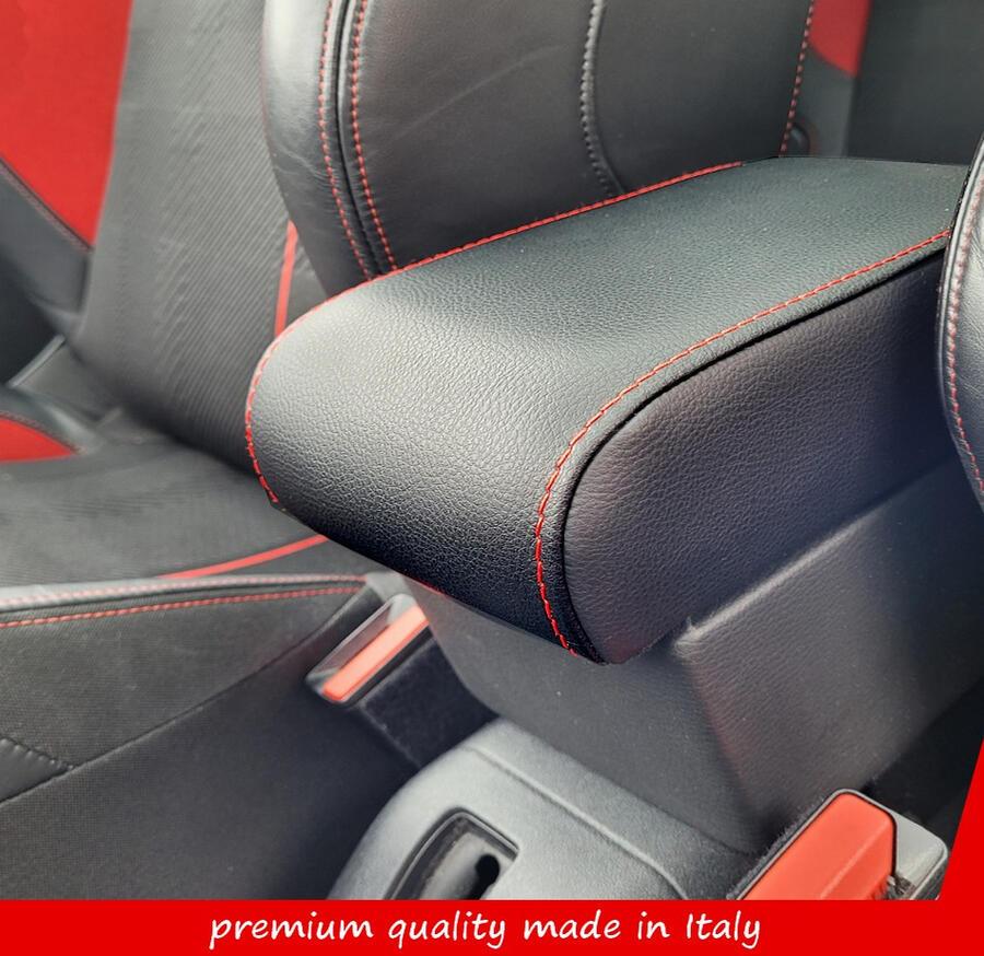 Bracciolo regolabile con portaoggetti per Peugeot 208 (2012-02/2019)