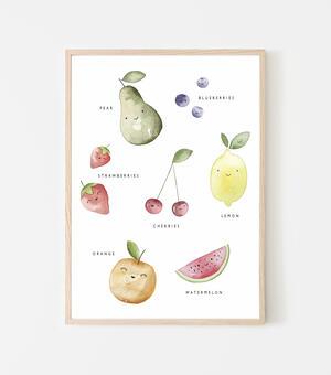 "Poster ""Fruit"" 21x29cm"