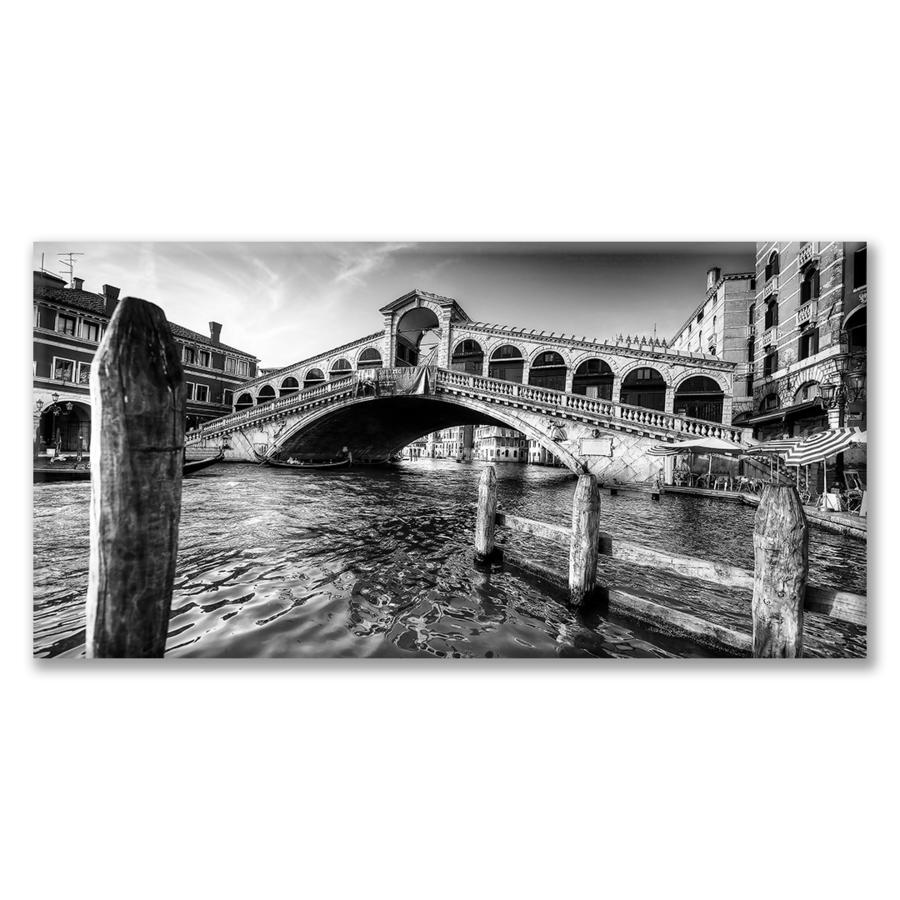 Quadro Ponte di Rialto in una giornata estiva in bianco e nero