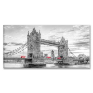 Quadro Tower Bridge con Bus Rossi