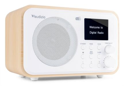 RADIO DAB+ MILANO CON BATTERIA BIANCA