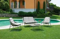 Set salotto Maratea divano + 2 poltrone cuscino + tavolino rattan sintetico avana SET01
