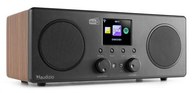 BARI WIFI INTERNET RADIO STEREO CON DAB+ WOOD