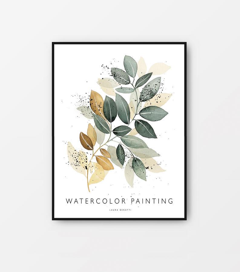 "Poster ""Green leaves"" 30x40cm"