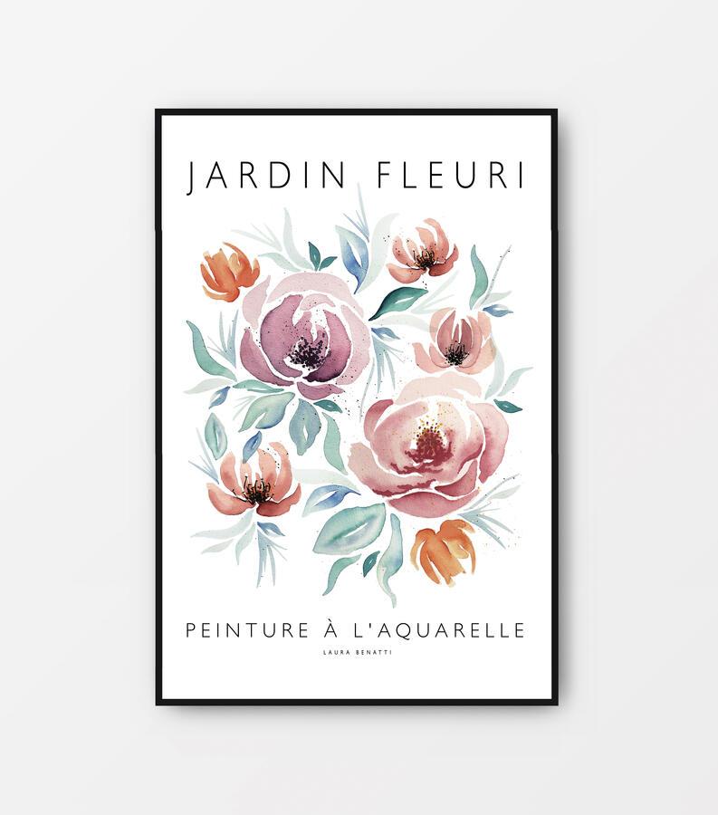 "Poster ""Jardin fleuri""  40x60cm"
