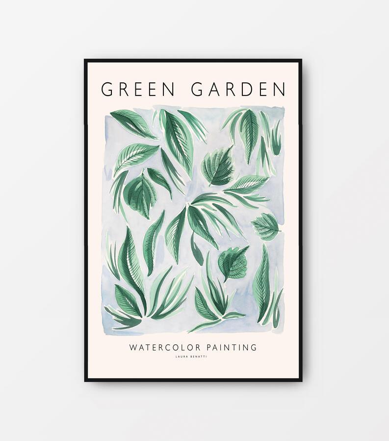 """Poster """"Green garden"""" 40x60cm"""