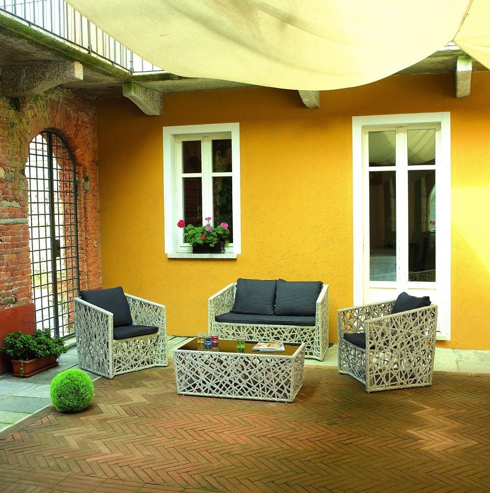Tavolino Giardino Wicker Shanghai : Set salotto giardino antalya divano poltrone