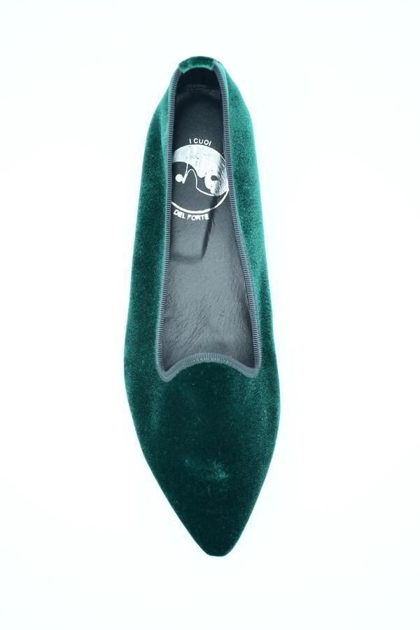 Friulana verde in velluto a punta