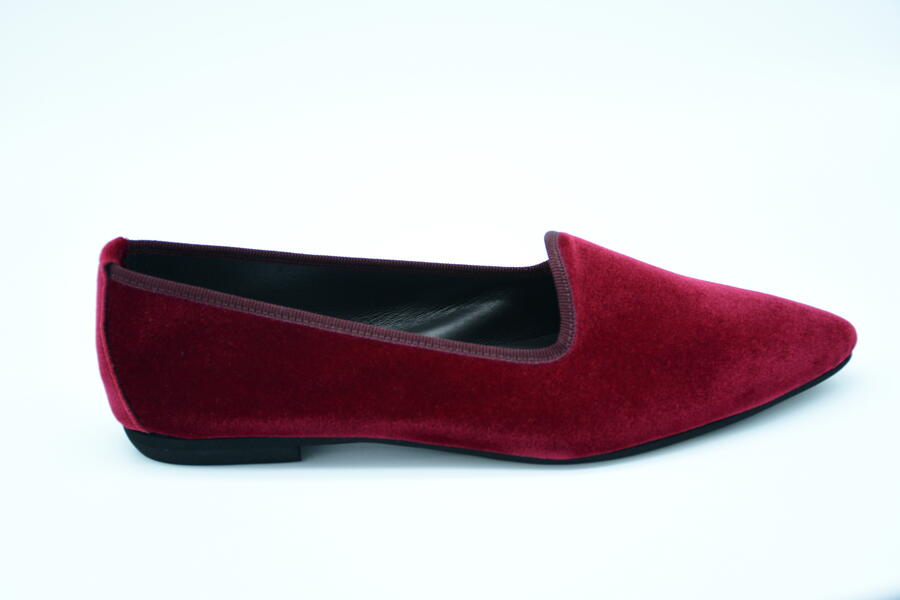 Friulana rosso (cardinale) in velluto a punta