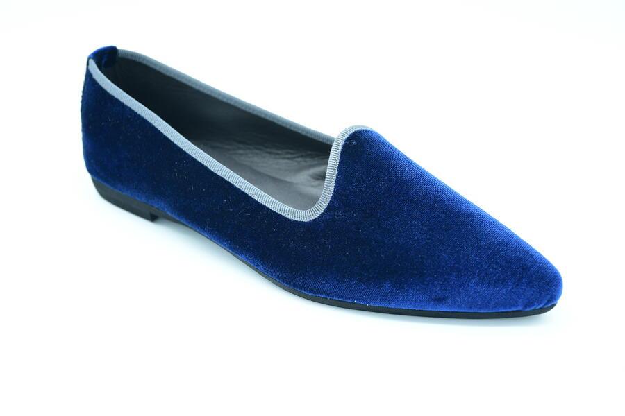 Friulana blu in velluto a punta