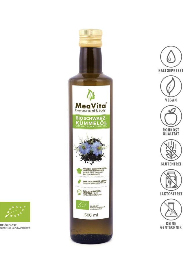 Olio vegetale di cumino bio 500 ml