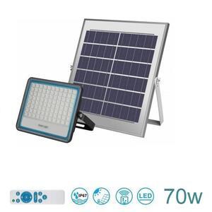 Faro LED Esterno IP67 con Pannello Solare Luce Bianca 6000K 70w
