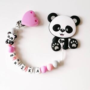 Panda rosa pastello, meringa e grigio