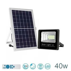 Faro LED da Esterno Impermeabile con pannello solare IP67 40w