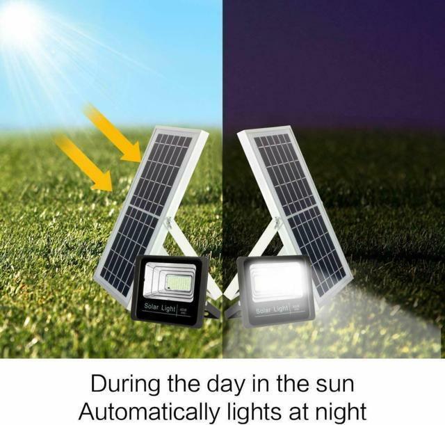 Faro LED impermeabile con pannello solare IP67 120w