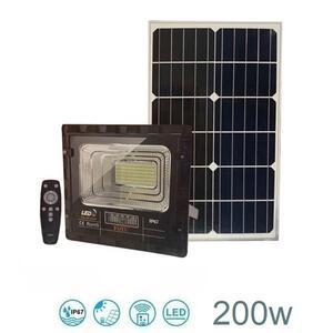 Faro LED impermeabile con pannello solare IP67 200w