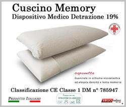 Cuscino Memory Saponetta Mediform Presidio Medico Fodera in Aloe
