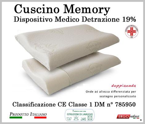 Cuscino Memory Cervicale Mediform Presidio Medico Fodera in Aloe