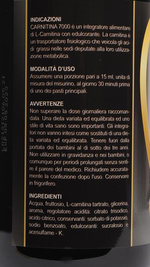 CARNITINA LIQUID 7000 - Carnitina liquida 1000 ml gusto frutti di bosco