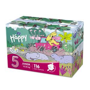 Pannolini Happy 5 JUNIOR 12-25 Kg - BOX 116 pz