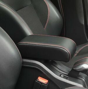 Accoudoir pour Peugeot 2008 (2013-2019) avec coutures de couleur et charnière arrière couvert