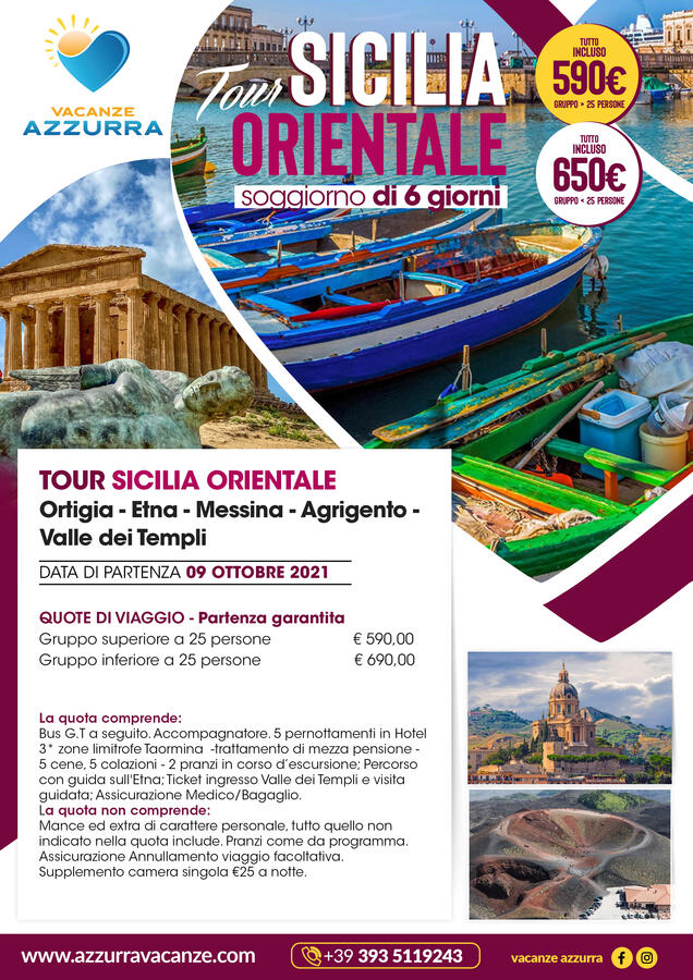 TOUR 6 GIORNI SICILIA ORIENTALE