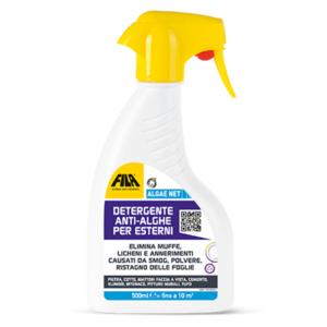 Spray FILA ALGAE NET  spray 500 ML - Elimina Alghe, Muschi e Licheni da Pareti e Pavimenti  Fila Noalghe