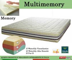 Materasso Memory Mod. Multimemory Matrimoniale da Cm. 160x190/195/200 Waterlily Tre Strati - Ergorelax