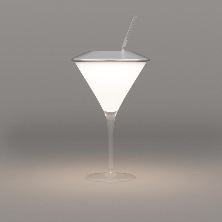 Lampada da Tavolo Ricaricabile Movida di Luceconcept in Vetro e Alluminio  - Offerta di Mondo Luce 24