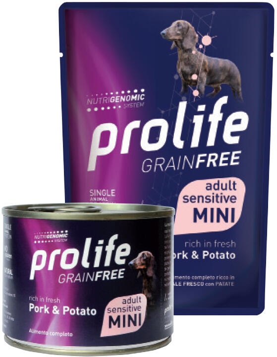 Cane - Grain Free Adult Mini Maiale e Patate 100 gr Prolife
