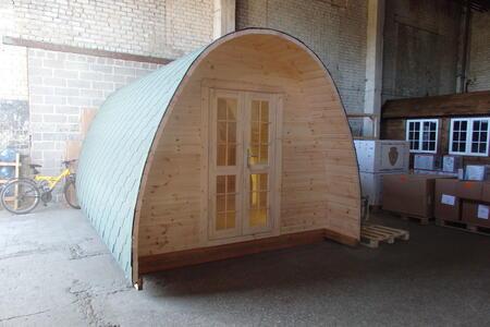 Camping Pod in legno di abete nordico Mod. Nina 3,00 x 4,00 - 28mm