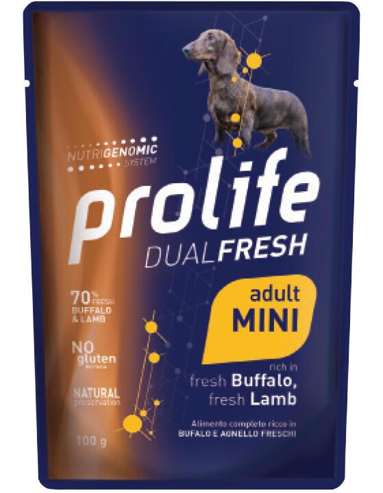 Cane - Dual Fresh Adult Mini Bufalo e Agnello 100 gr Prolife