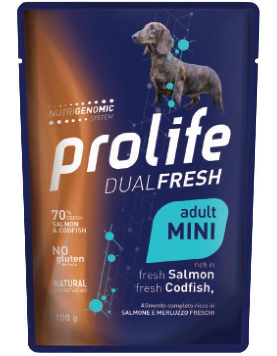 Cane - Dual Fresh Adult Mini Salmone e Merluzzo 100 gr Prolife